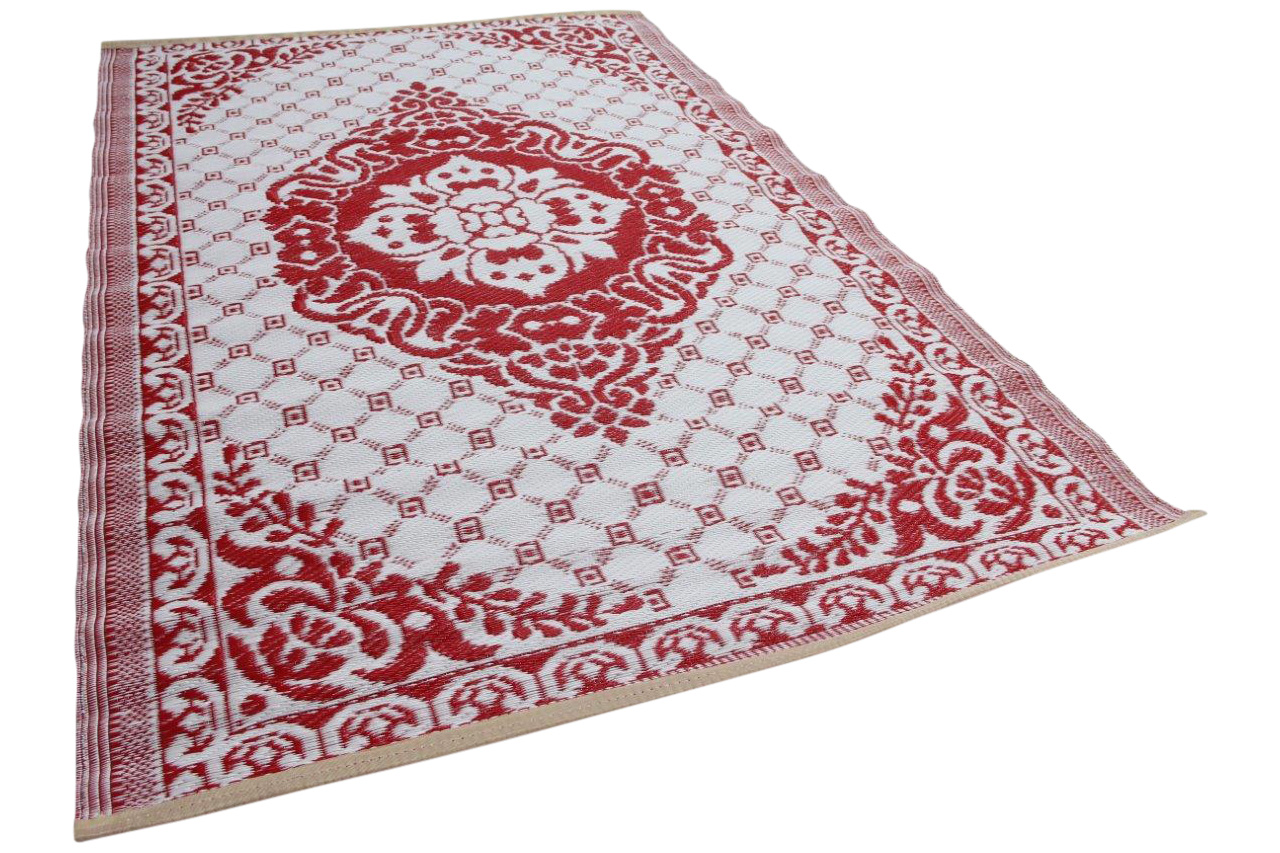 Buitenkleed rood wit