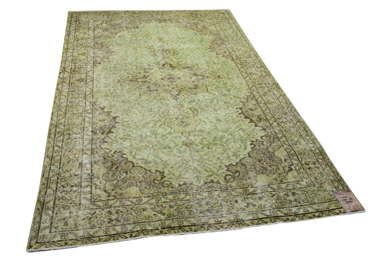 Vintage vloerkleed groen 11013 278cm x 164cm