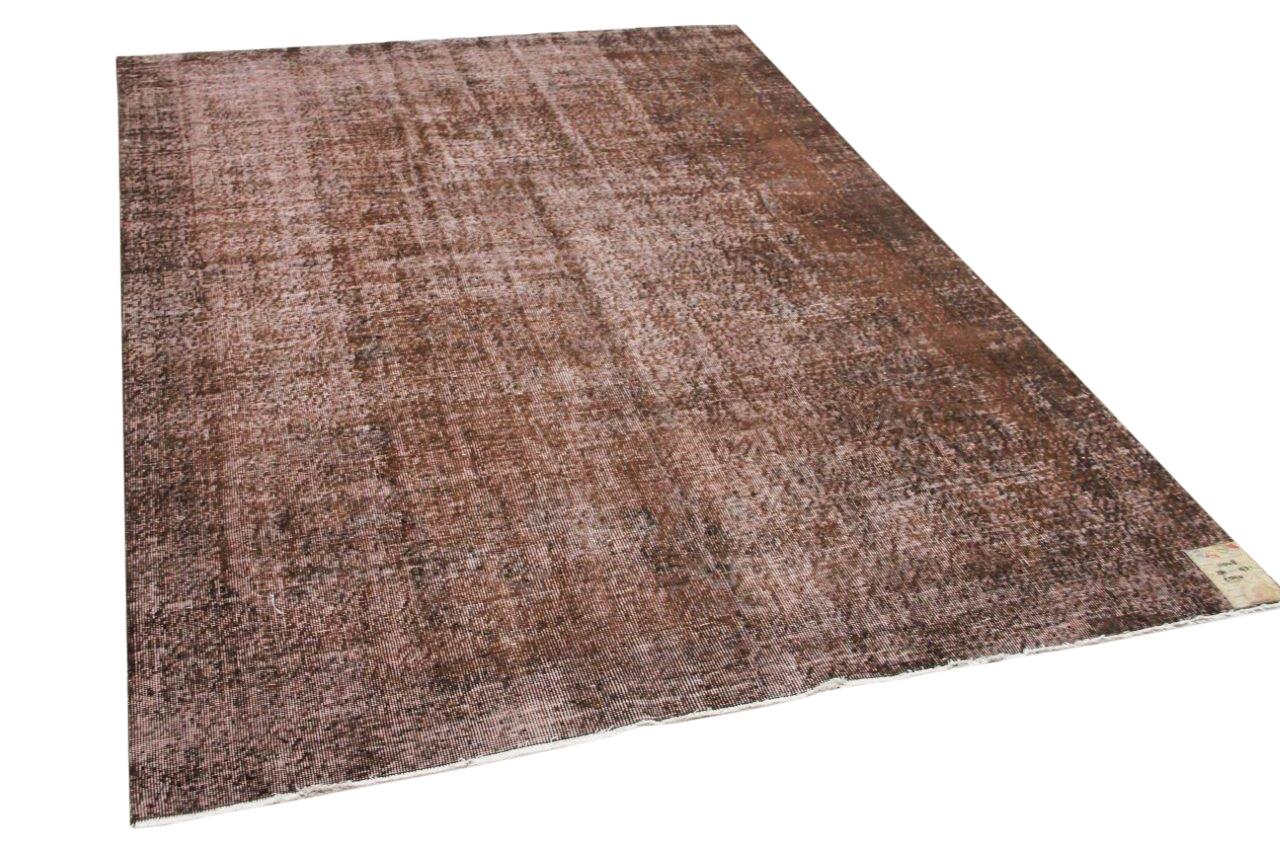 Vintage vloerkleed bruin 11048 281cm x 193cm