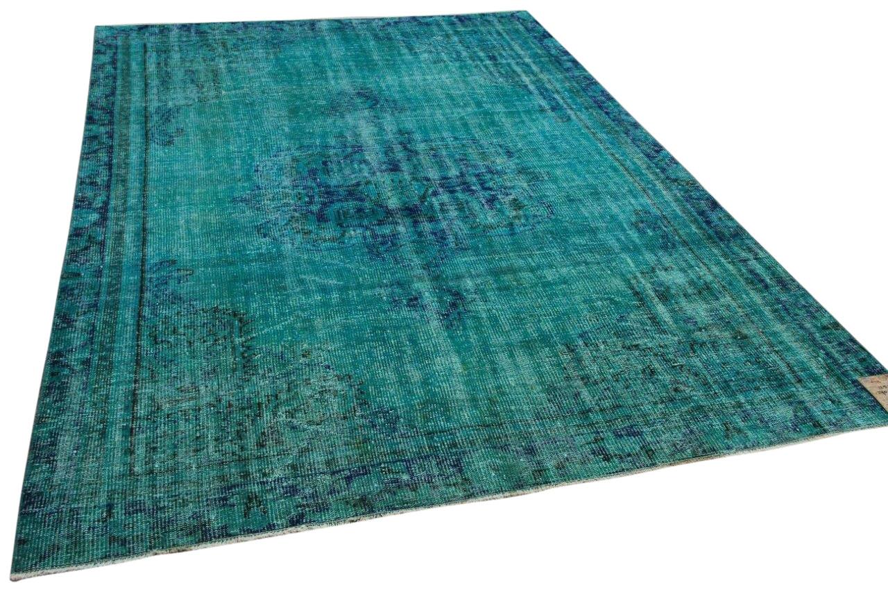 Vintage vloerkleed met aqua blauw 12513 290cm x 208cm