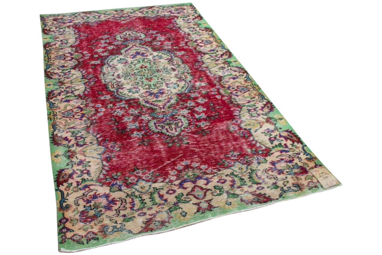 Vintage vloerkleed rood 14960 260cm x 154cm